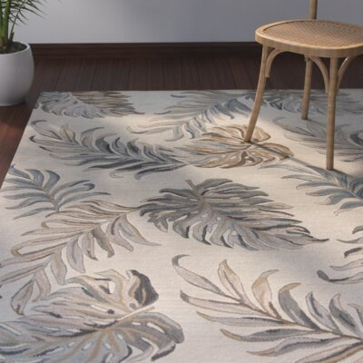 Imala Hand-Tufted Palms Ivory Wool Area Rug Rug Size: Rectangle 8 x 106