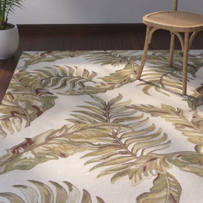 Imala Hand-Tufted Ivory Area Rug Rug Size: Rectangle 3'3