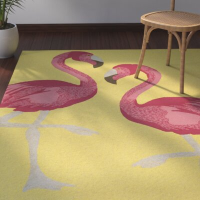 Brianna Handmade Yellow Indoor/Outdoor Area Rug Rug Size: 9 x 12