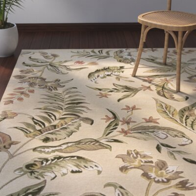Imala Hand-Tufted Cream Area Rug Rug Size: Rectangle 33 x 53