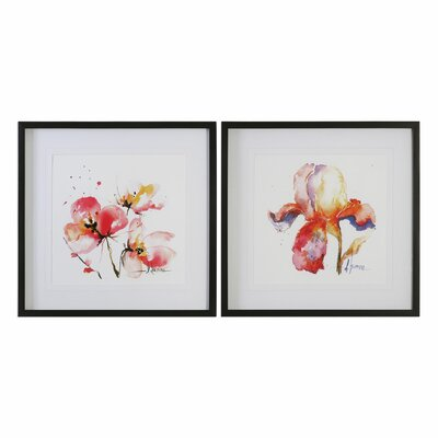 Blooms Hermanas 2 Piece Framed Painting Print Set