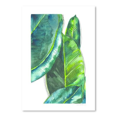 Banana Leaves Poster Gallery Painting Print