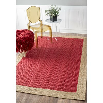 Dryden Hand-Woven Red Area Rug Rug Size: Round 4