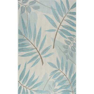 Rowley Teal Indoor/Outdoor Area Rug Rug Size: 53 x 76