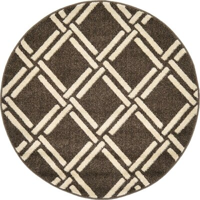 Seagate Brown Area Rug Rug Size: 7 x 10