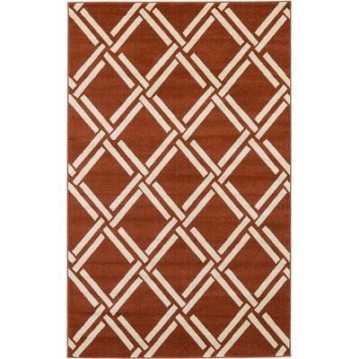 Seagate Dark Terracotta Area Rug Rug Size: Round 6