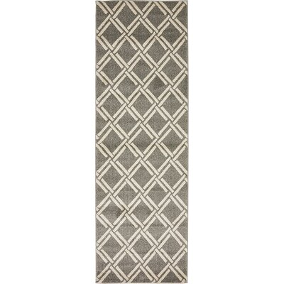 Seagate Gray Area Rug Rug Size: 33 x 53