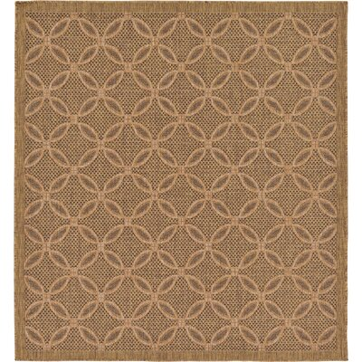 Landaff Light Brown Outdoor Area Rug Rug Size: Square 6