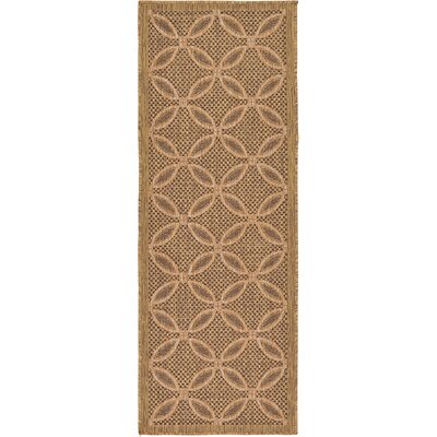 Landaff Light Brown Outdoor Area Rug Rug Size: Runner 22 x 6