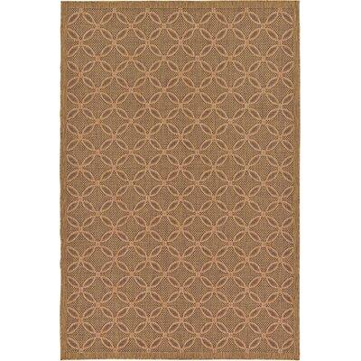Landaff Light Brown Outdoor Area Rug Rug Size: 7 x 10