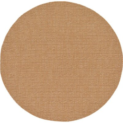 Dresden Light Brown Outdoor Area Rug Rug Size: Round 6