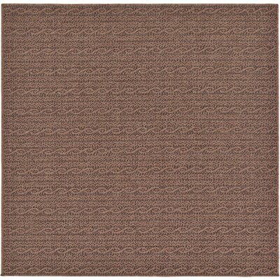 Robbinston Brown Outdoor Area Rug Rug Size: Square 6