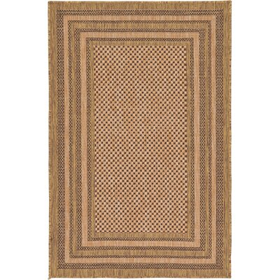 Rockwood Light Brown Outdoor Area Rug Rug Size: 33 x 5