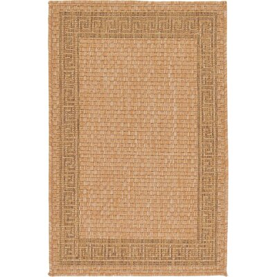 Kennebunk Light Brown Outdoor Area Rug Rug Size: 22 x 3