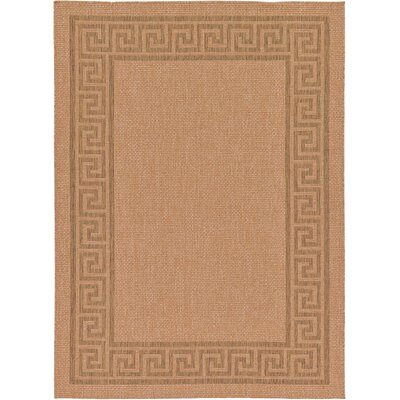 Kennebunk Light Brown Outdoor Area Rug Rug Size: 7 x 10
