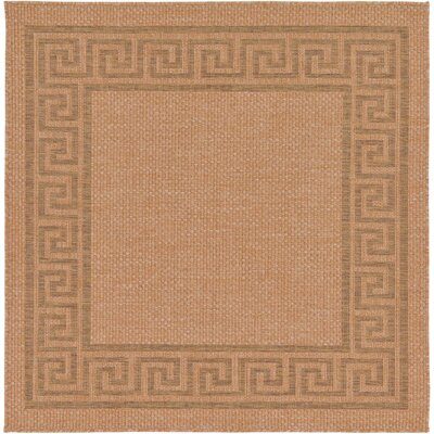 Kennebunk Light Brown Outdoor Area Rug Rug Size: Square 6