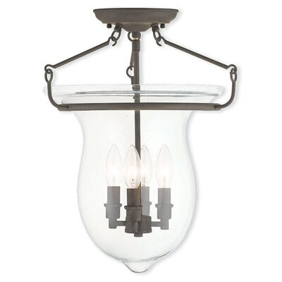 Brentwood 4-Light Semi-Flush Mount Color: Bronze