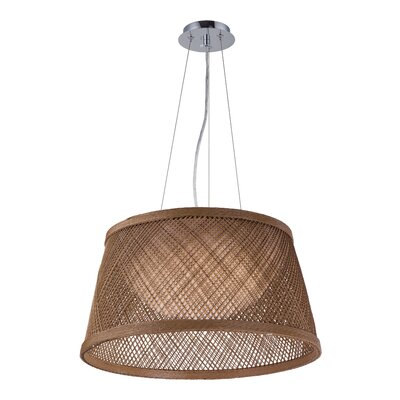 Carlisle 1-Light Drum Pendant Finish: Natural