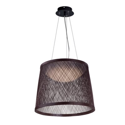 Carlisle 1-Light Mini Pendant Color: Chocolate