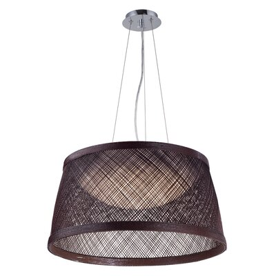 Carlisle 1-Light Drum Pendant Color: Chocolate