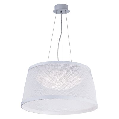 Carlisle 1-Light Drum Pendant Finish: White