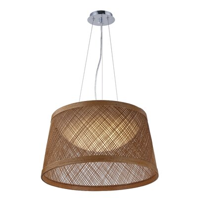 Carlisle 1-Light Drum Pendant Color: Natural