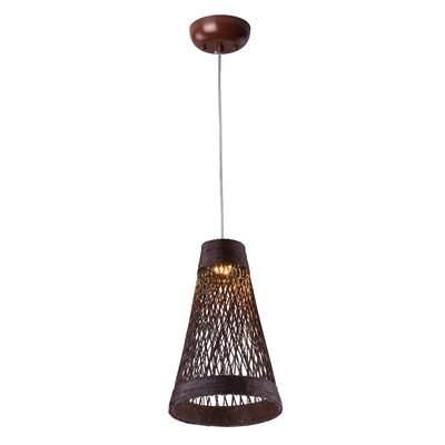 Carlisle 1-Light Mini Pendant Finish: Chocolate