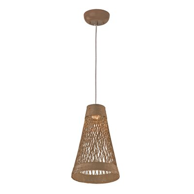 Carlisle 1-Light Mini Pendant Color: Natural