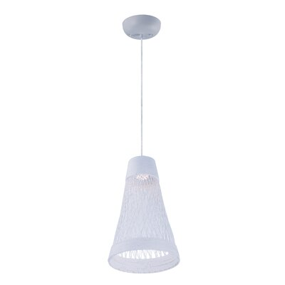 Carlisle 1-Light Mini Pendant Finish: White