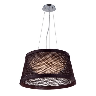 Carlisle 1-Light Drum Pendant Shade Color: Chocolate