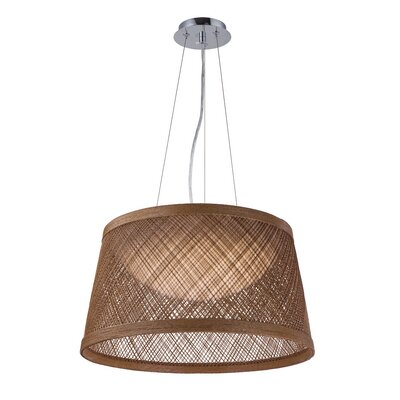 Carlisle 1-Light Drum Pendant Shade Color: Natural