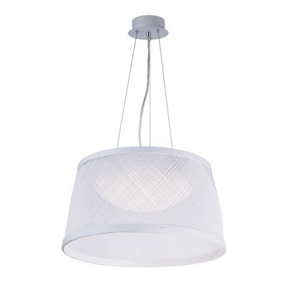 Carlisle 1-Light Drum Pendant Shade Color: White