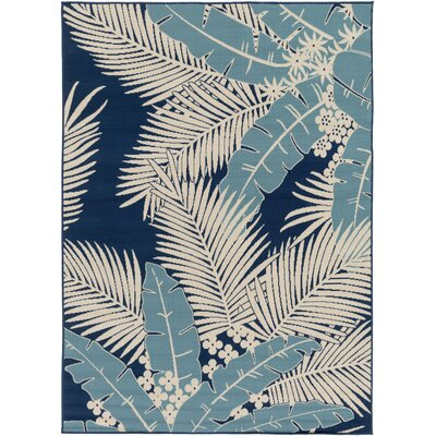 Bethel Ivory Indoor/Outdoor Area Rug Rug Size: 93 x 126