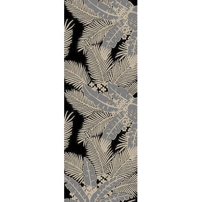 Bethel Black Indoor/Outdoor Area Rug Rug Size: Runner 27 x 73