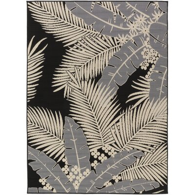 Bethel Black Indoor/Outdoor Area Rug Rug Size: 710 x 103
