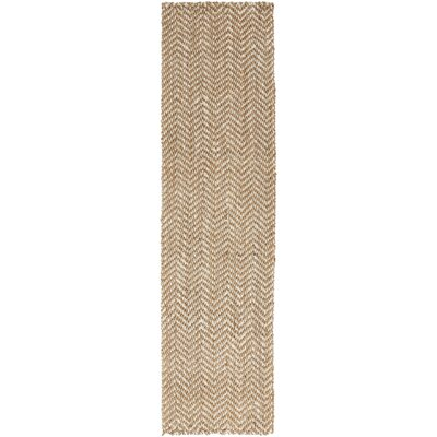 Bradford Hand-Woven Cream/Tan Area Rug Rug size: 33 x 53