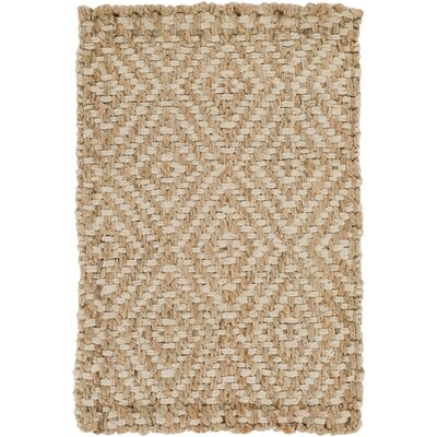 Annalee Hand-Woven Cream/Tan Area Rug Rug size: Rectangle 3'3