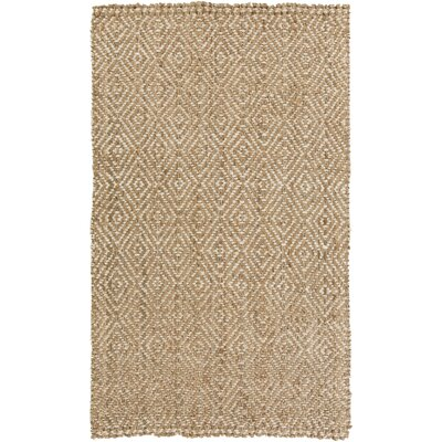 Annalee Hand-Woven Cream/Tan Area Rug Rug size: Rectangle 5 x 8