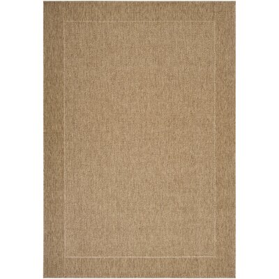 Brockton Camel/Dark Brown Indoor/Outdoor Area Rug Rug Size: 53 x 76