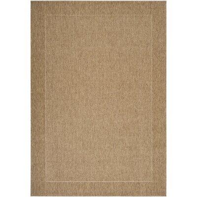 Brockton Camel/Dark Brown Indoor/Outdoor Area Rug Rug Size: 710 x 111