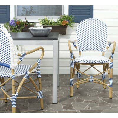 Stratford Dining Arm Chair Finish: Blue / White