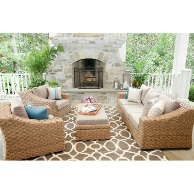 St. Johns 6 Pieces Deep Seating Group with Cushion Finish: Cast Ash