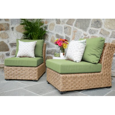 St. Johns Armless Chair with Cushion Finish: Spectrum Cilantro