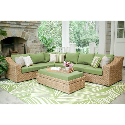St. Johns 6 Pieces Deep Seating Group with Cushion Finish: Spectrum Cilantro