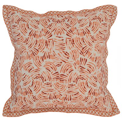 Caravel Linen Throw Pillow Color: Orange