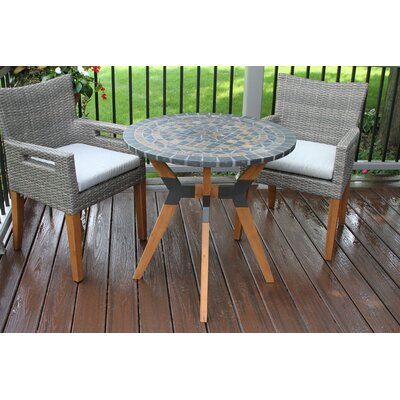 Shelburne Eucalyptus and Metal 3 Piece Bistro Set