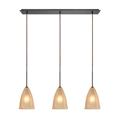 Mejorado 3-Light Kitchen Island Pendant Finish: Oil Rubbed Bronze