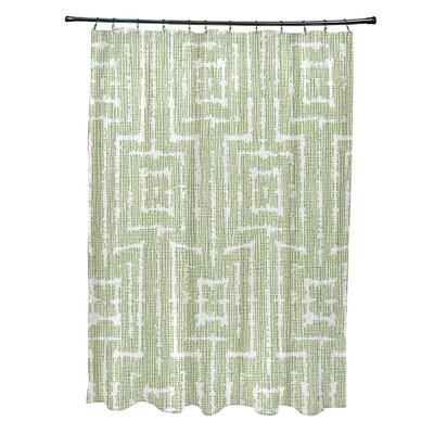 Thirlby Shower Curtain Color: Green