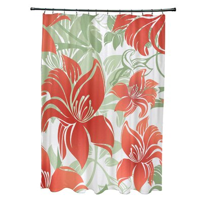 Costigan Shower Curtain Color: Red
