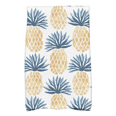 Patterned Kitchen Towel Color: Blue